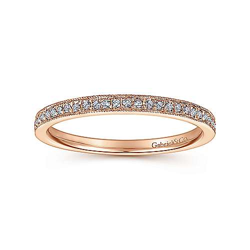 14k Rose Gold Stackable Ladies' Ring angle 4