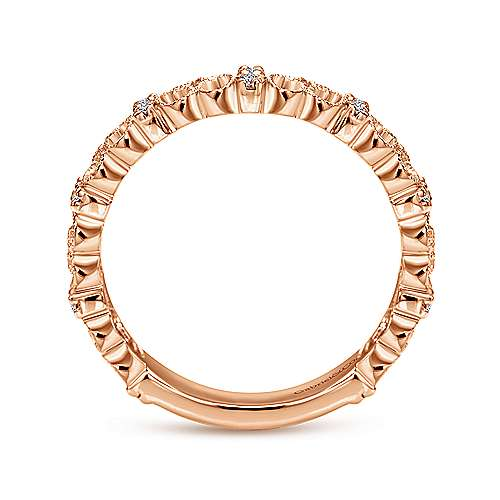 14k Rose Gold Stackable Ladies' Ring angle 2