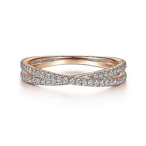 Gabriel - 14k Rose Gold Stackable Ladies Ring