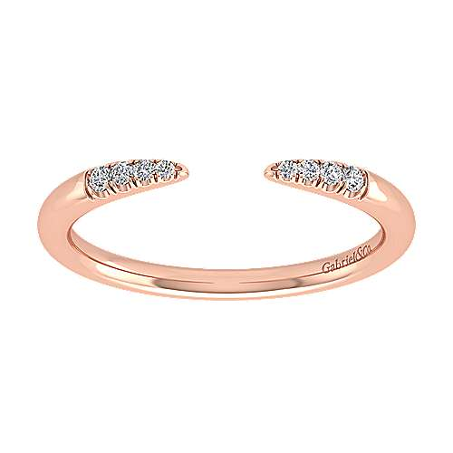 14k Rose Gold Stackable Ladies' Ring angle 5