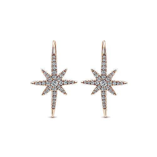 Gabriel - 14k Rose Gold Starlis Drop Earrings