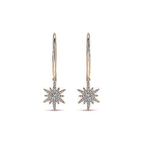 Gabriel - 14k Rose Gold Starlis Drop Earrings