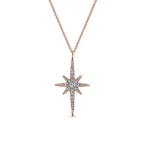 14k Rose Gold Starlis Fashion Necklace angle 1