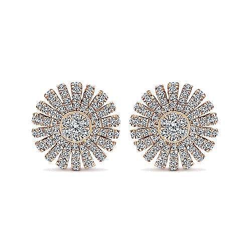 Gabriel - 14k Rose Gold Starlis Stud Earrings