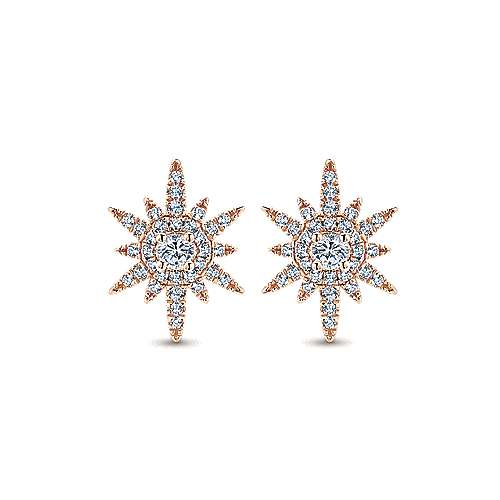 14k Rose Gold Starlis Stud Earrings