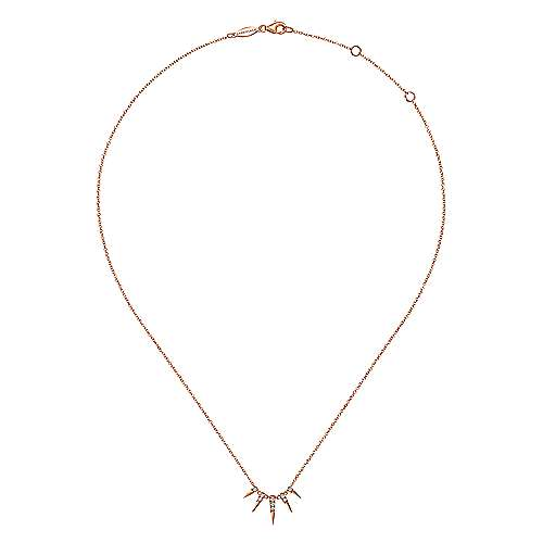 14k Rose Gold Trends Fashion Necklace angle 2