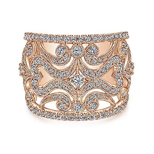Gabriel - 14k Rose Gold Victorian Fashion Ladies Ring