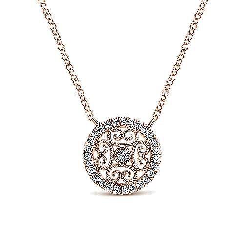 Gabriel - 14k Rose Gold Victorian Fashion Necklace
