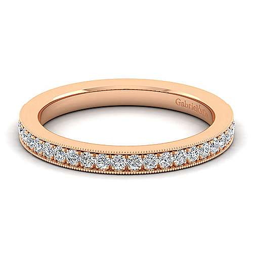 Gabriel - 14k Rose Gold Victorian Straight Wedding Band