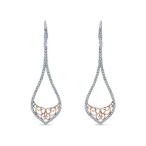14k White And Rose Gold Flirtation Drop Earrings angle 1