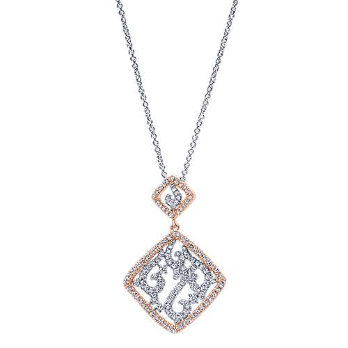 14k White And Rose Gold Flirtation Fashion Necklace angle 1