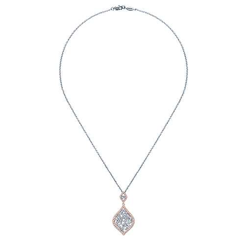 14k White And Rose Gold Flirtation Fashion Necklace angle 2