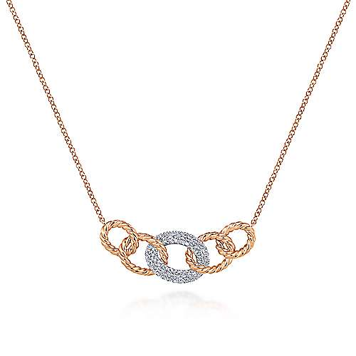 Gabriel - 14k White And Rose Gold Hampton Fashion Necklace