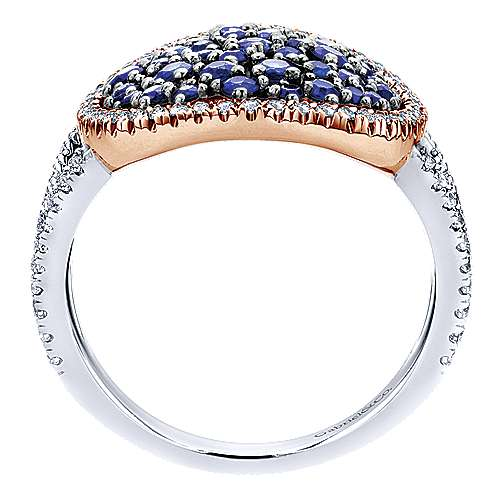 14k White And Rose Gold Lusso Color Classic Ladies' Ring angle 2