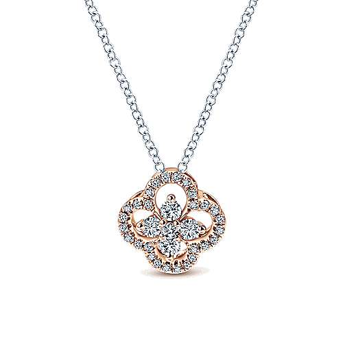 Gabriel - 14k White And Rose Gold Lusso Diamond Fashion Necklace
