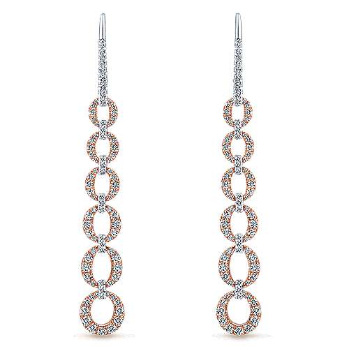 Gabriel - 14k White And Rose Gold Lusso Drop Earrings