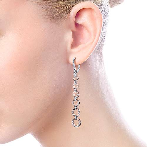 14k White And Rose Gold Lusso Drop Earrings angle 3