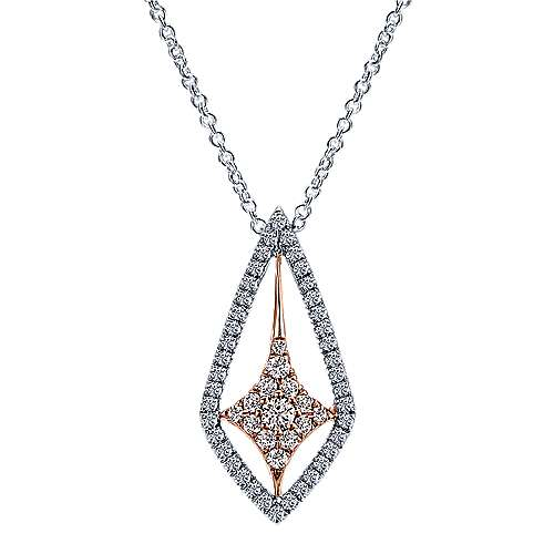 14k White And Rose Gold Lusso Fashion Necklace angle 1