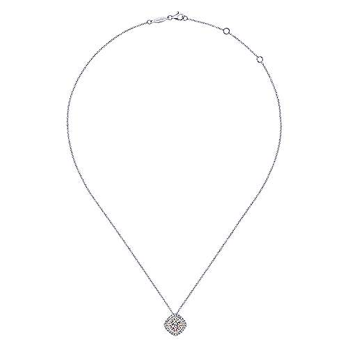 14k White And Rose Gold Messier Fashion Necklace angle 2