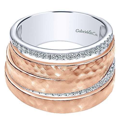 14k White And Rose Gold Souviens Fashion Ladies' Ring angle 1