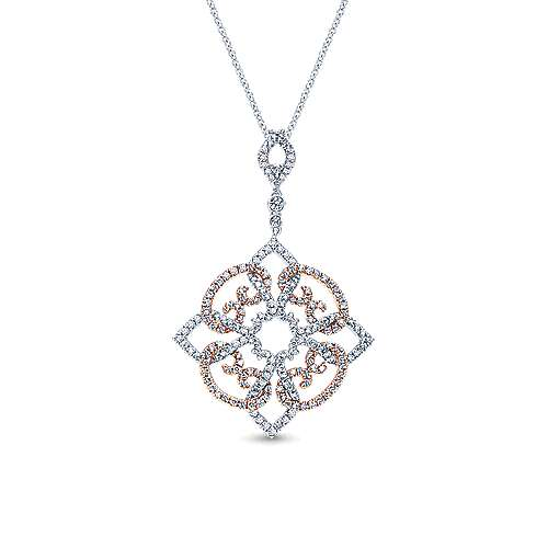 Gabriel - 14k White And Rose Gold Victorian Fashion Necklace