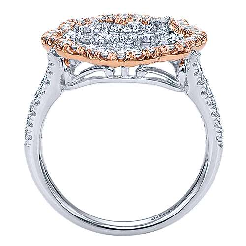 14k White And Rose Gold Victorian Statement Ladies' Ring angle 2