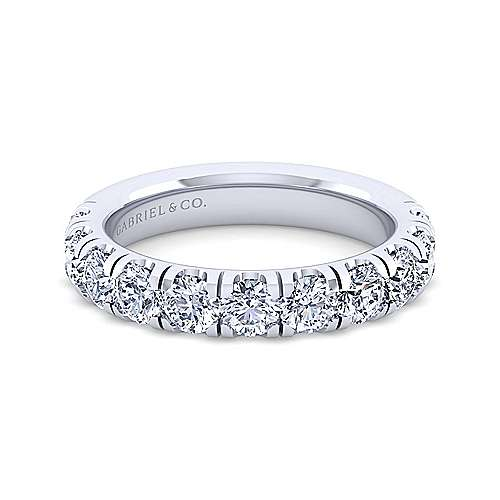 Gabriel - 14k White Gold 11 Stone Prong Set Band