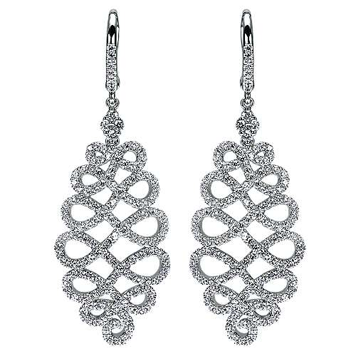 Gabriel - 14k White Gold Allure Drop Earrings
