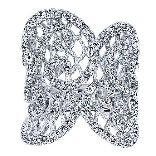 14k White Gold Allure Fashion Ladies' Ring angle 4