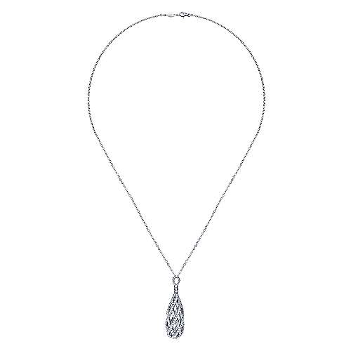14k White Gold Allure Fashion Necklace angle 2