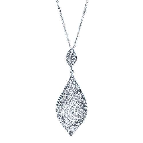 14k White Gold Allure Fashion Necklace angle 1