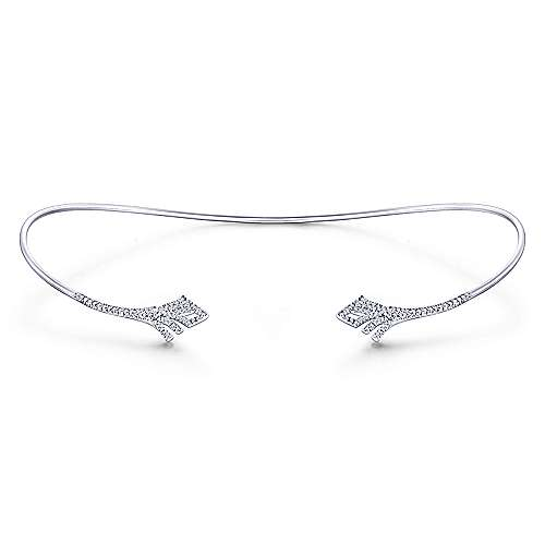 14k White Gold Art Moderne Choker Necklace angle 3