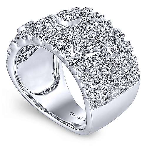 14k White Gold Art Moderne Fashion Ladies' Ring angle 3