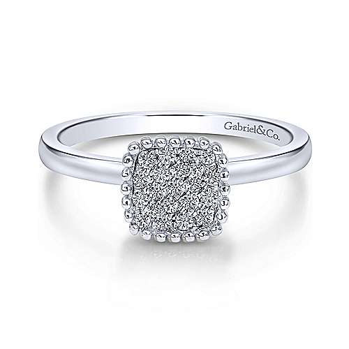Gabriel - 14k White Gold Bujukan Fashion Ladies' Ring