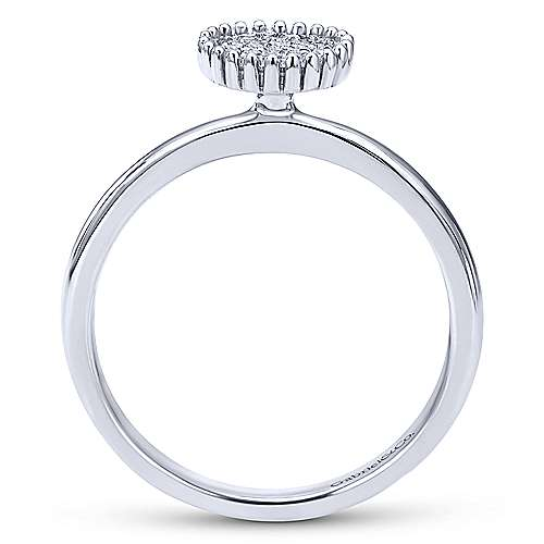 14k White Gold Bujukan Fashion Ladies' Ring angle 2