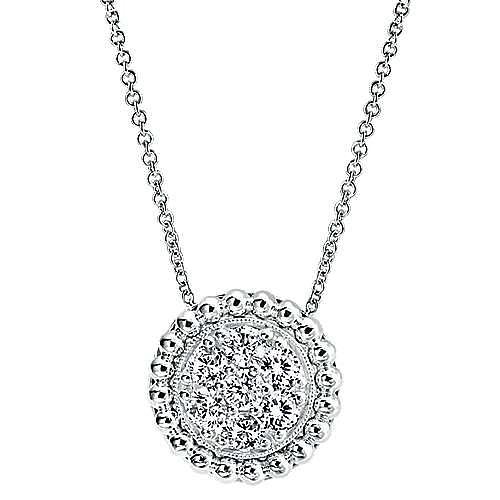 Gabriel - 14k White Gold Bujukan Fashion Necklace