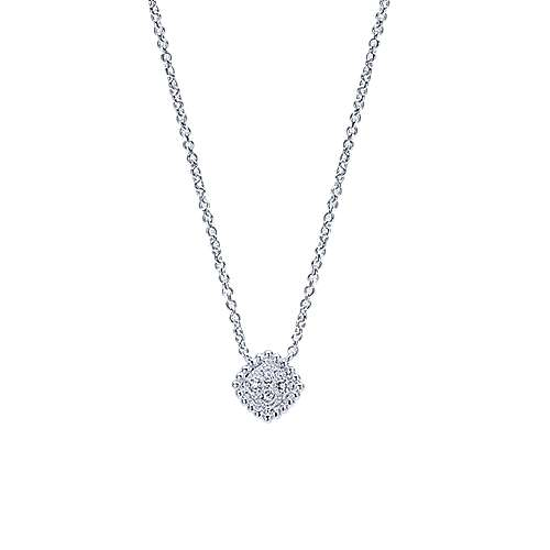14k White Gold Bujukan Fashion Necklace angle 1