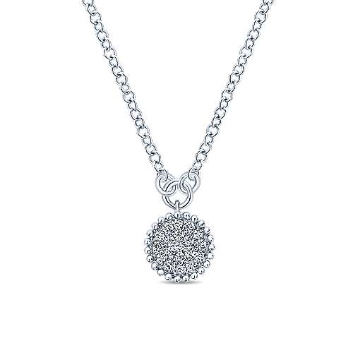 Gabriel - 14k White Gold Bujukan Fashion Necklace