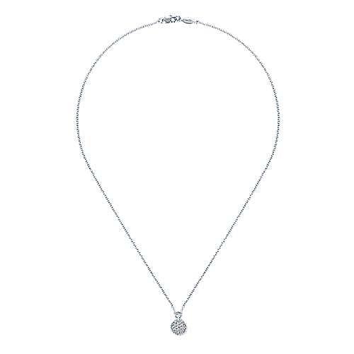 14k White Gold Bujukan Fashion Necklace angle 2