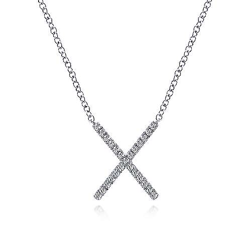 14k White Gold Care Collection Fashion Necklace angle 1