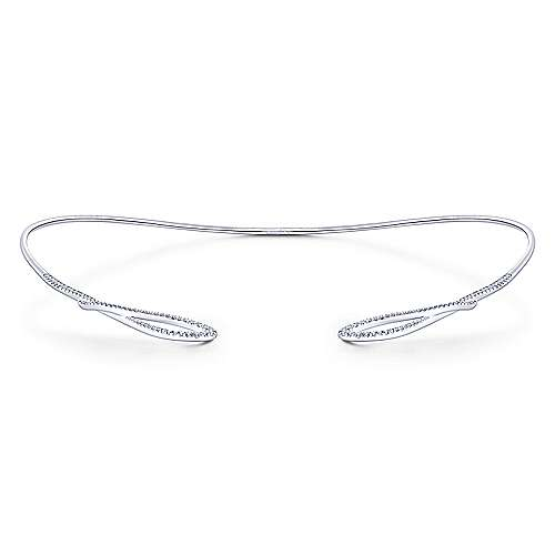 14k White Gold Cascade Choker Choker Necklace angle 3