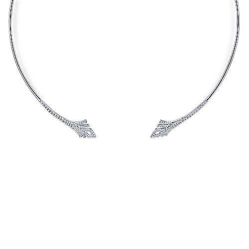 Gabriel - 14k White Gold Cascade Choker Choker Necklace