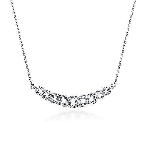 Gabriel - 14k White Gold Cascade Choker Choker Necklace
