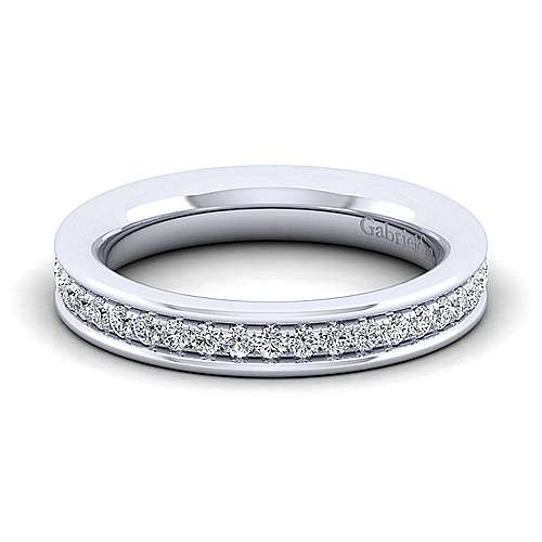 Gabriel - 14k White Gold Channel Prong Set Band