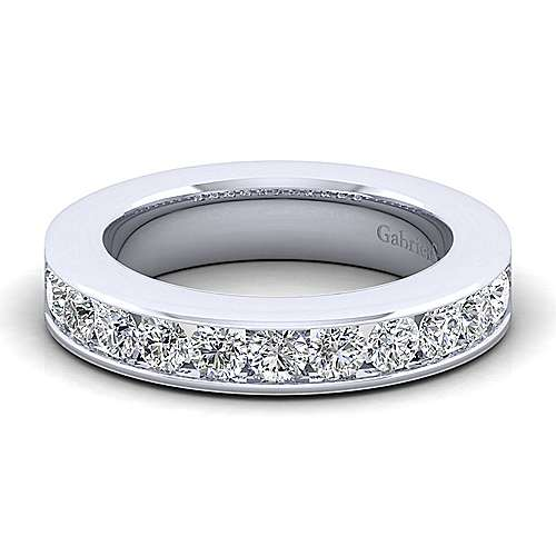 14k White Gold Channel Set Anniversary Band