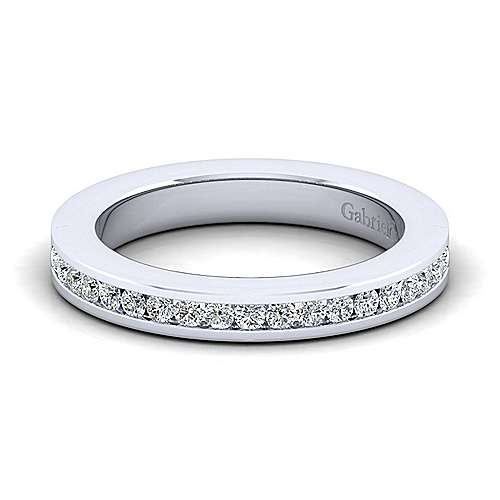 Gabriel - 14k White Gold Channel Set Band