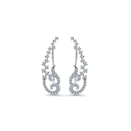 Gabriel - 14k White Gold Comets Ear Climber Earrings