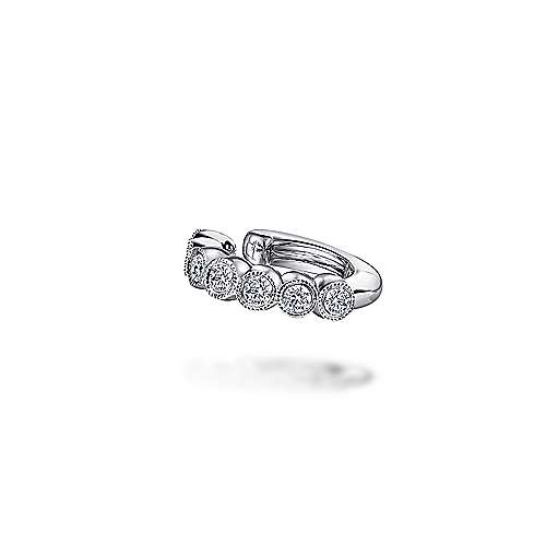Gabriel - 14k White Gold Comets Earcuffs Earrings