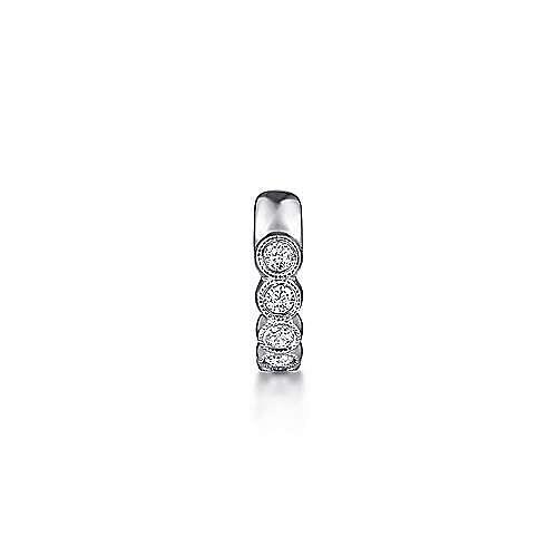 14k White Gold Comets Earcuffs Earrings angle 2