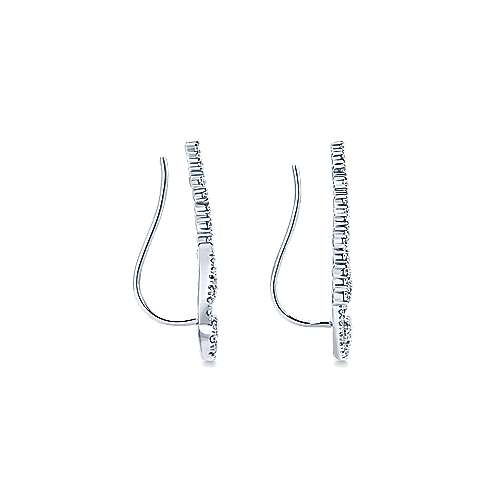14k White Gold Comets Earcuffs Earrings angle 3